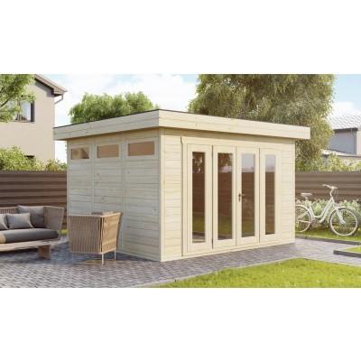 Hauptbild von SmartShed Blockhaus Zenon 550x550 cm, 45 mm
