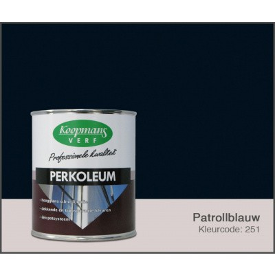 Foto van Koopmans Perkoleum, Petrolblauw 251, 2,5L Hoogglans O