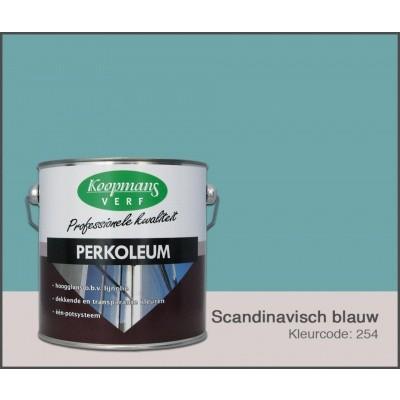 Foto van Koopmans Perkoleum, Scandinavisch blauw 254, 2,5L Zijdeglans