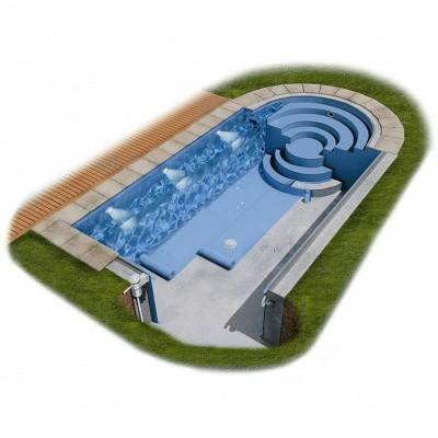 Foto van Proflex Vernis gewapende zwembadfolie 1,5 mm - Lichtblauw 51,25 m2