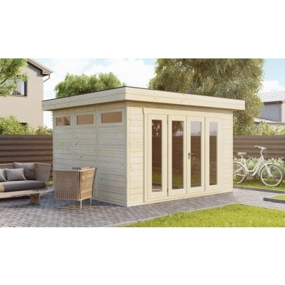 Hauptbild von SmartShed Blockhaus Zenon 450x400 cm, 30 mm