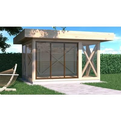 Hauptbild von Azalp Blockhaus Equis 500x500 cm, 30 mm