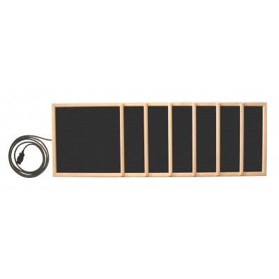 Hoofdafbeelding van Inframagic Houtraam met frame verticaal voor Plateheater 102x34 cm