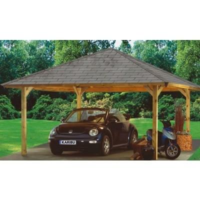 Foto von Karibu Premium Carport Einzel 2