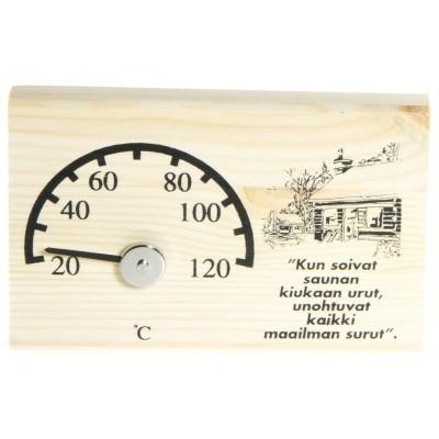 Foto van Ilogreen Thermometer Hout Basic Horizontaal