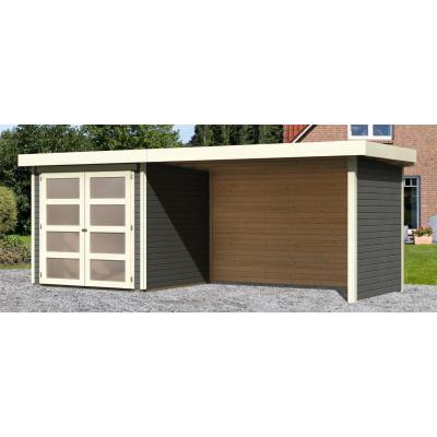 Hoofdafbeelding van Woodfeeling Leuven 2 met veranda 280 cm Terragrijs