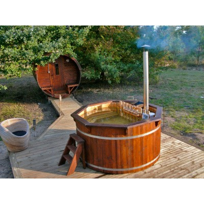 Foto van Interflex Hottub thermowood - Diameter 150cm