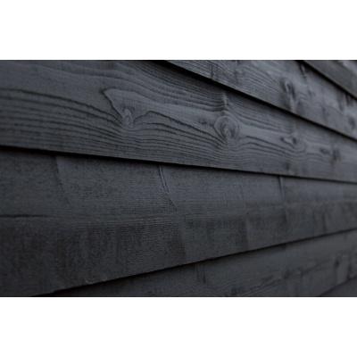 Hoofdafbeelding van WoodAcademy Achterwand Vuren 600 cm Zwart (133565)