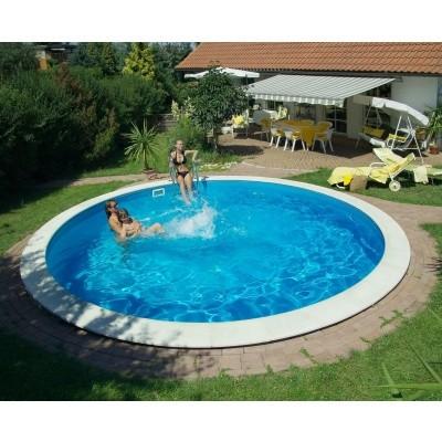 Foto von Trendpool Beckenrandsteine Ibiza 420 weiß (für Rundbecken)