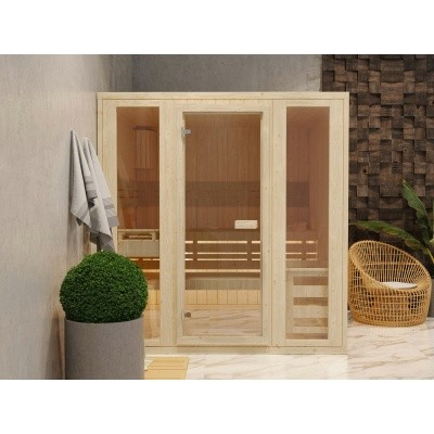 Hoofdafbeelding van Azalp Massieve sauna Rio Optic 151x173 cm, 39 mm