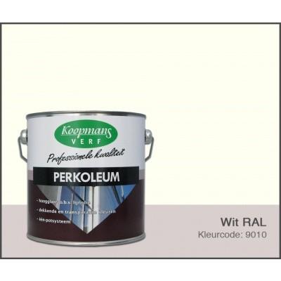 Foto van Koopmans Perkoleum, Wit RAL 9010, 2,5L Zijdeglans