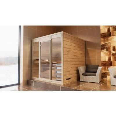 Hoofdafbeelding van Azalp Massieve sauna Eva Optic 240x140 cm, 45 mm
