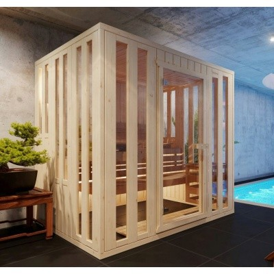 Hoofdafbeelding van Azalp massieve sauna Alku 238x117 cm, 40 mm