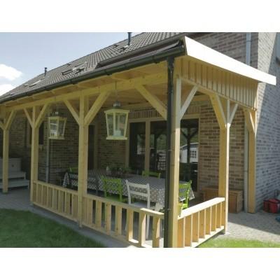 Foto van Azalp Houten veranda 400x400 cm