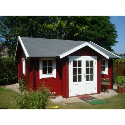 Foto von Azalp Blockhaus Essex 500x500 cm, 45 mm