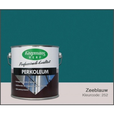 Foto van Koopmans Perkoleum, Zeeblauw 252, 2,5L Zijdeglans