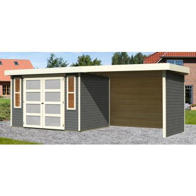 Hoofdafbeelding van Woodfeeling Leuven 4 met veranda 280 cm Terragrijs