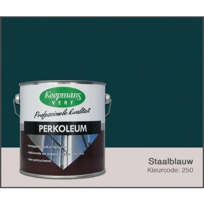 Foto van Koopmans Perkoleum, Staalblauw 250, 2,5L Zijdeglans