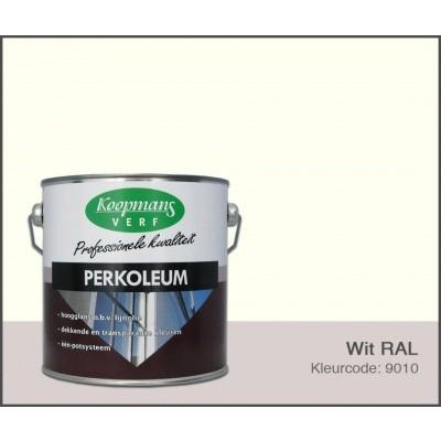Foto van Koopmans Perkoleum, Wit RAL 9010, 2,5L Hoogglans