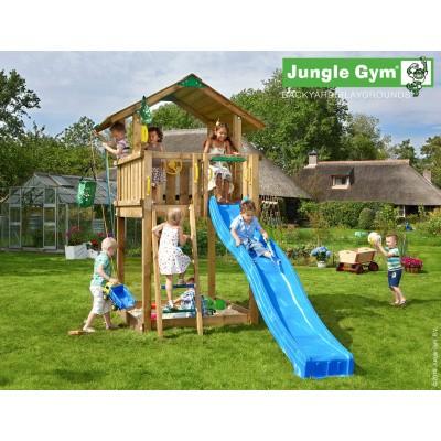 Foto van Jungle Gym Chalet met Glijbaan