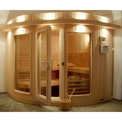 Hoofdafbeelding van Azalp Sauna Runda 237x280 cm elzen