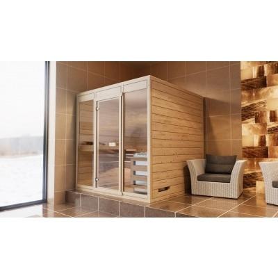 Hoofdafbeelding van Azalp Massieve sauna Eva Optic 200x200 cm, 45 mm