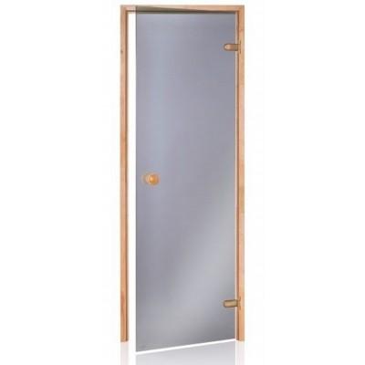Hauptbild von Hot Orange Saunatür Scan 70x190 cm, grau 8 mm Erle