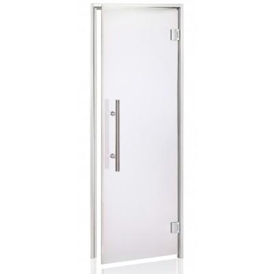 Hoofdafbeelding van Hot Orange Stoombad deur Au Lux 80x210 cm, mat blank