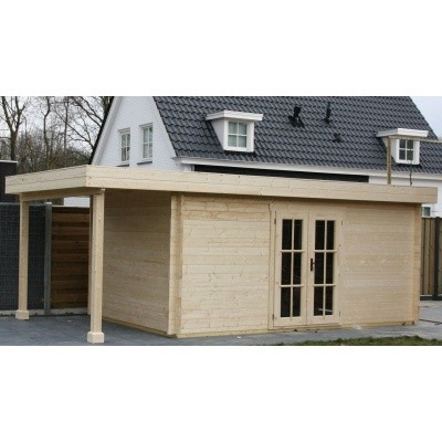 Hauptbild von Azalp Blockhaus Sven 400x450 cm, 45 mm