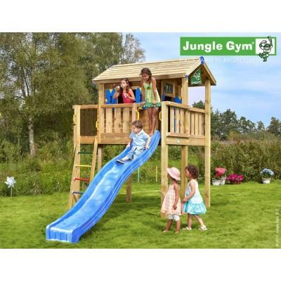 Foto van Jungle Gym Playhouse XL met Glijbaan
