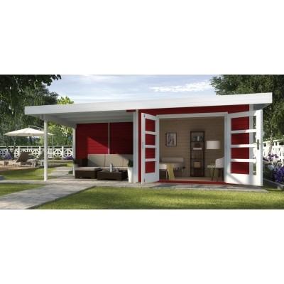 Hauptbild von Weka Designhaus 126 B Gr.1, 590x240 cm Schwedenrot
