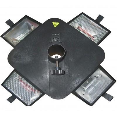 Foto van Garden grill Parasol Infra Heater & Verlichting