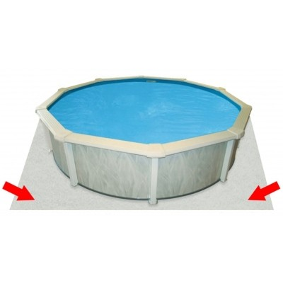 Hoofdafbeelding van Interline ondertapijt/bodemvilt voor zwembad 730 x 360 cm ovaal (100 gr/m2)