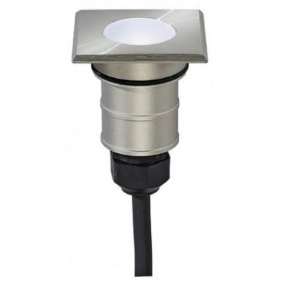 Foto van SLV POWER TRAIL-LITE SQUARE edelstaal 316 1W LED wit, 228341