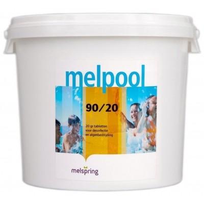 Foto van Melpool 90/20 kleine Chloortabletten - 10 kg