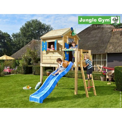 Foto van Jungle Gym Playhouse L met Glijbaan