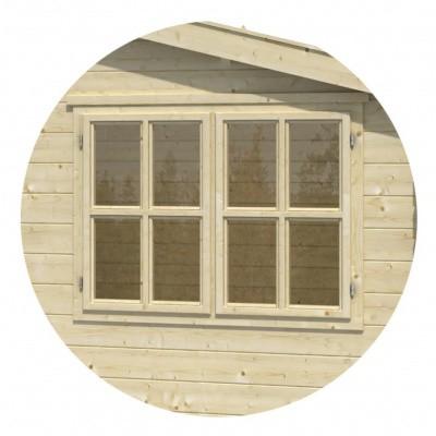 Foto von Outdoor Life Products Drehfenster, 130x97 cm