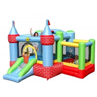 Foto van Happy Hop Castle Bouncer with Farmyard Ballpit