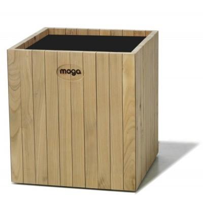 Foto van Moga Altro Plantenbak Vierkant 60 cm Esdoorn