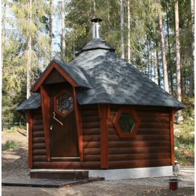 Foto van Interflex Sauna Kota 380x330 cm (9/2B)