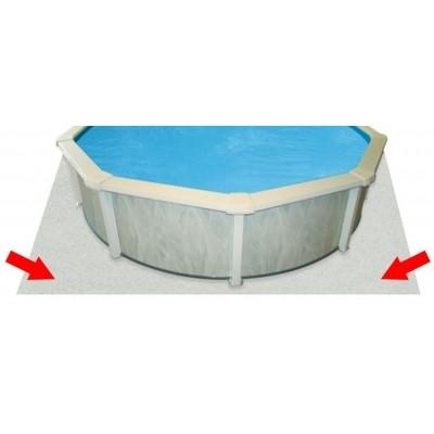 Hoofdafbeelding van Azalp ondertapijt/bodemvilt voor zwembad 520 x 370 cm ovaal (100 gr/m2)
