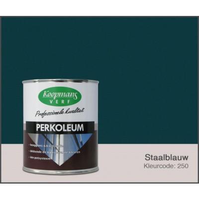 Foto van Koopmans Perkoleum, Staalblauw 250, 0,75L Hoogglans