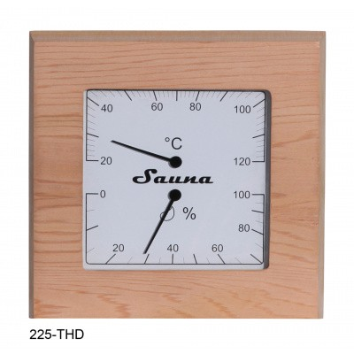 Hoofdafbeelding van Sawo Thermo-Hygrometer vierkant Ceder (225-THD)