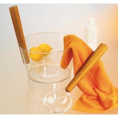 Foto van Hot Orange Emmer en lepel Polycarbonaat