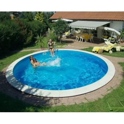 Foto von Trendpool Beckenrandsteine Ibiza 400 weiß (für Rundbecken)