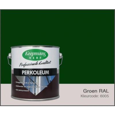 Foto van Koopmans Perkoleum, Groen RAL 6005, 2,5L Hoogglans