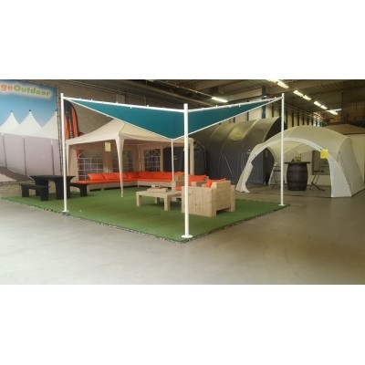 Foto van Orange Outdoor Schaduwdoek Sorara 4 x 4 m Butterfly ocean blue/wit