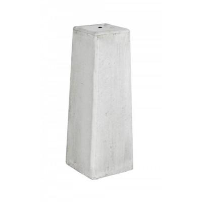 Foto van Hillhout Verstelbare Betonpoer wit-grijs
