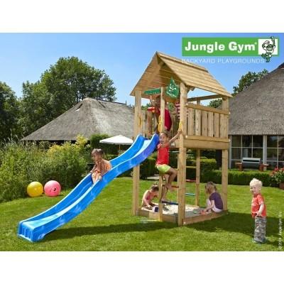 Foto van Jungle Gym Cabin met Glijbaan