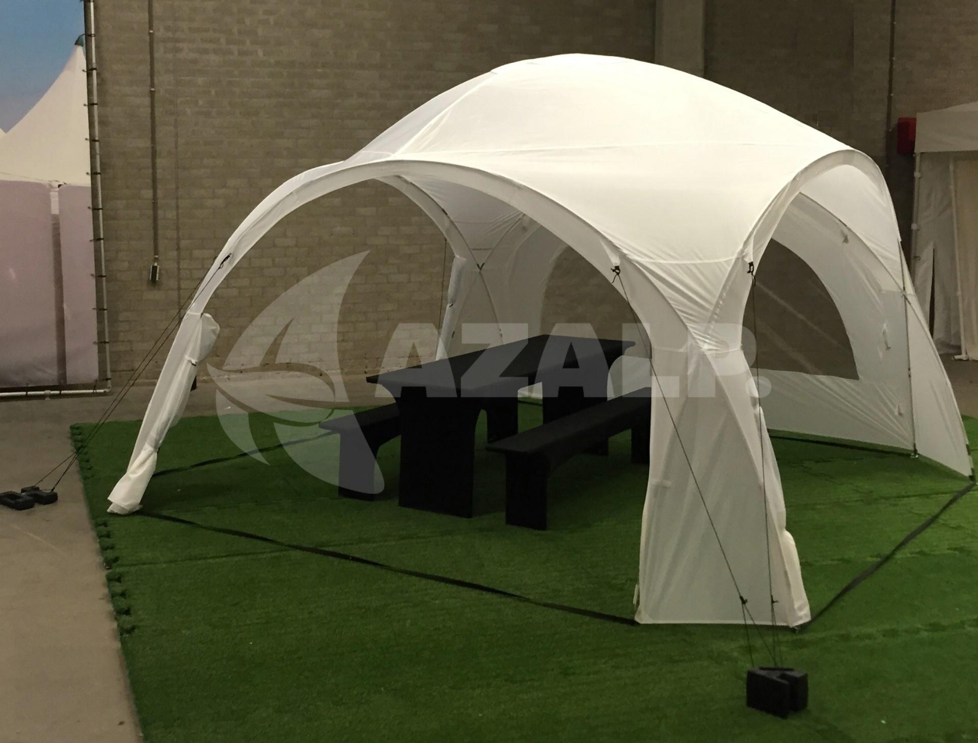 Tent Overkapping Tuin : Orange outdoor iglo dome tent m wit kopen bij azalp